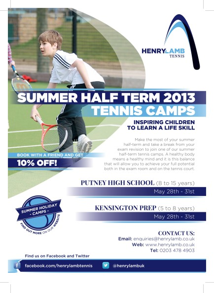 Henry Lamb A4 Poster Summer HalfTerm_PRESS