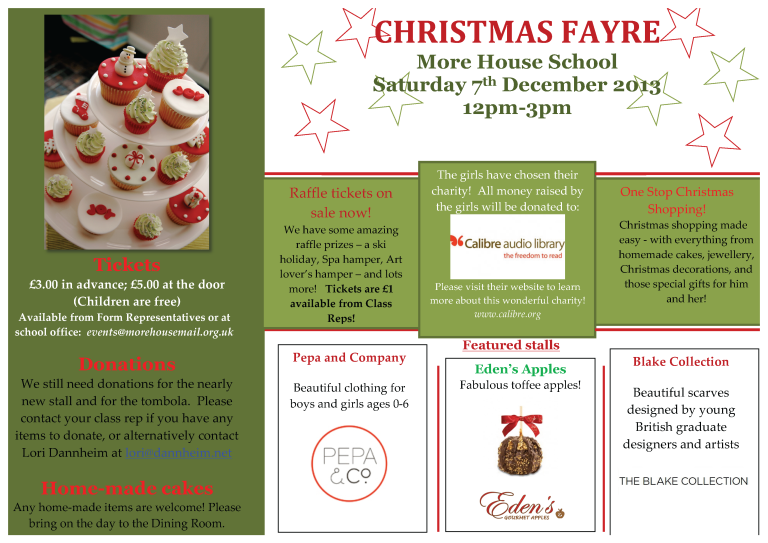 Christmas Fayre Newsletter_2013_2