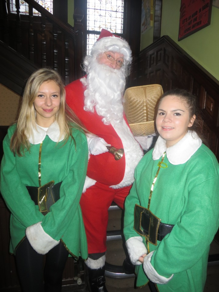 santa and elves