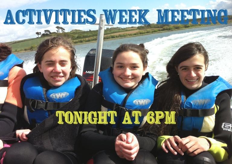 activities week reminder