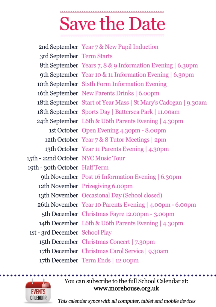 Autumn Term savethedate