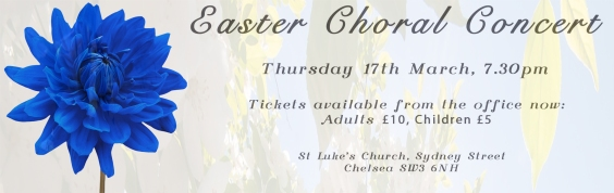 Easter Choral Concert Ad