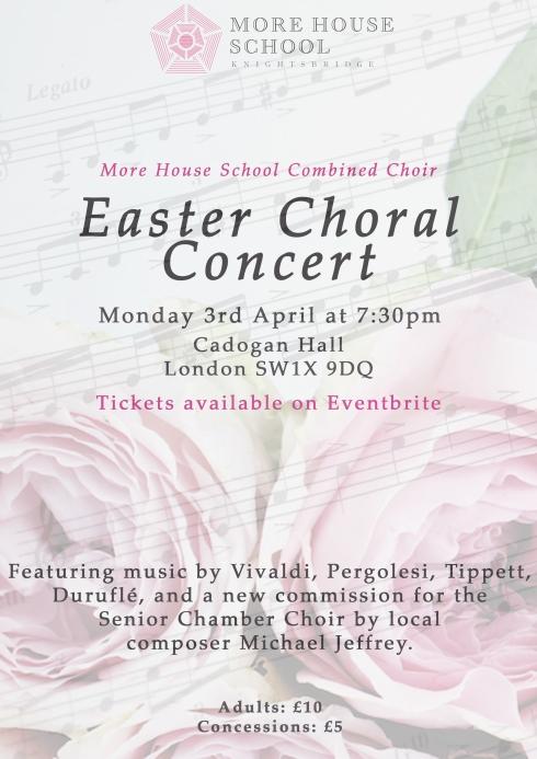 Easter Concert Poster Eventbrite