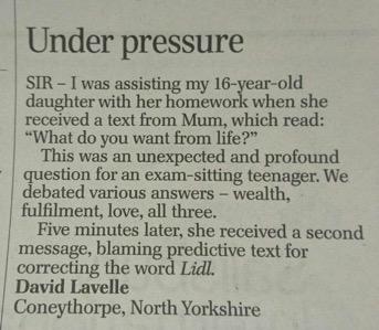 letter newspaper
