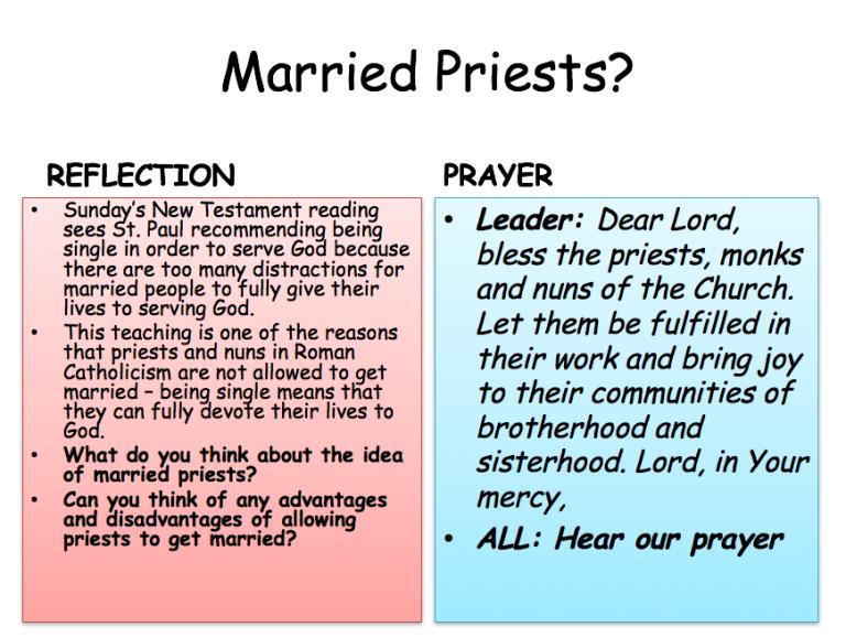 Prayer Views - Married Priests